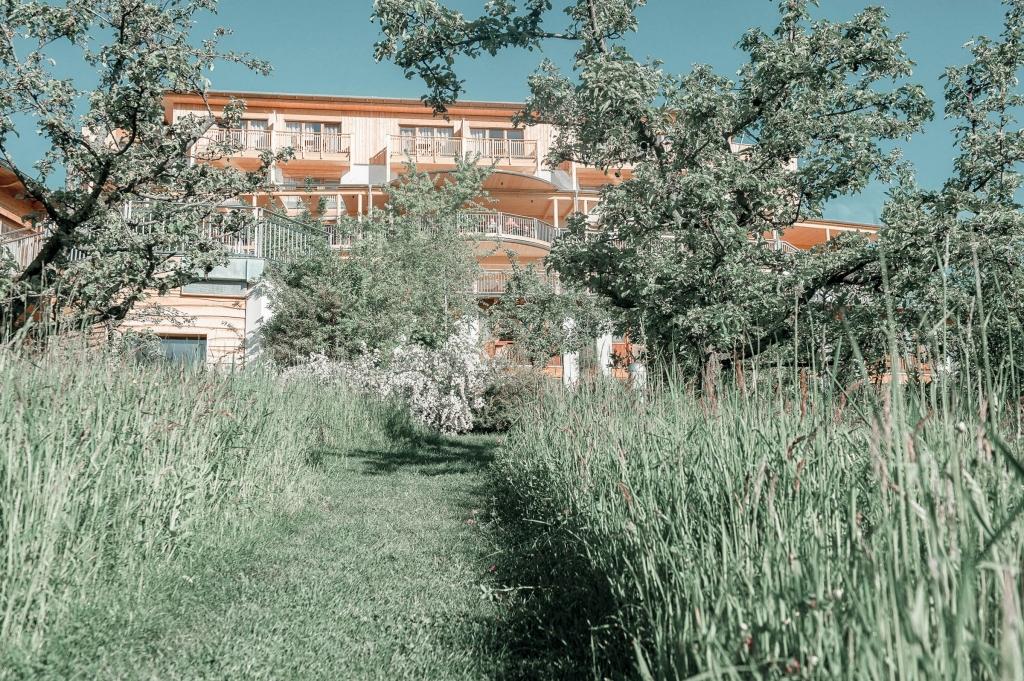 Garten hinter dem Biohotel Retter