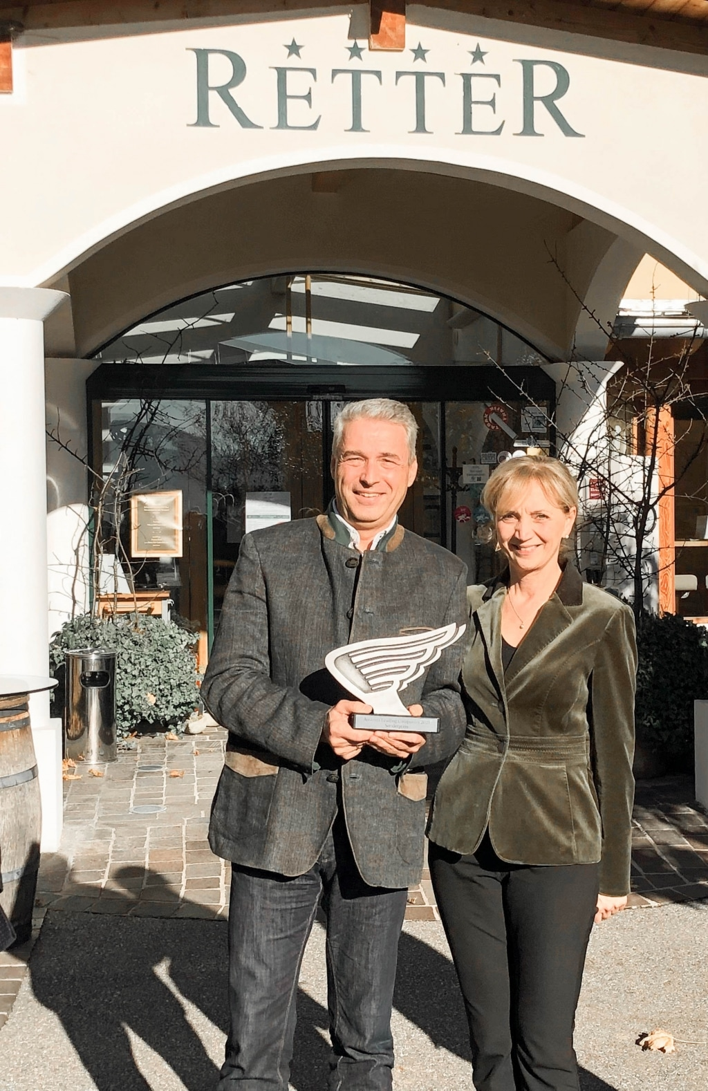 Ulli und Hermann Retter freuen sich über den ALC Award