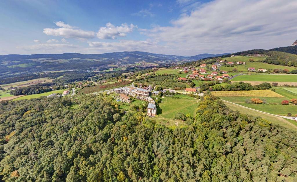 Luftbild über das Biohotel Retter