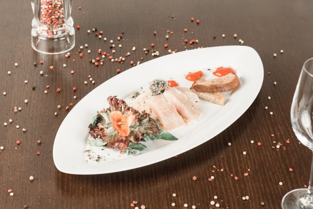 Saiblingsfilet rohmariniert im Biorestaurant Retter