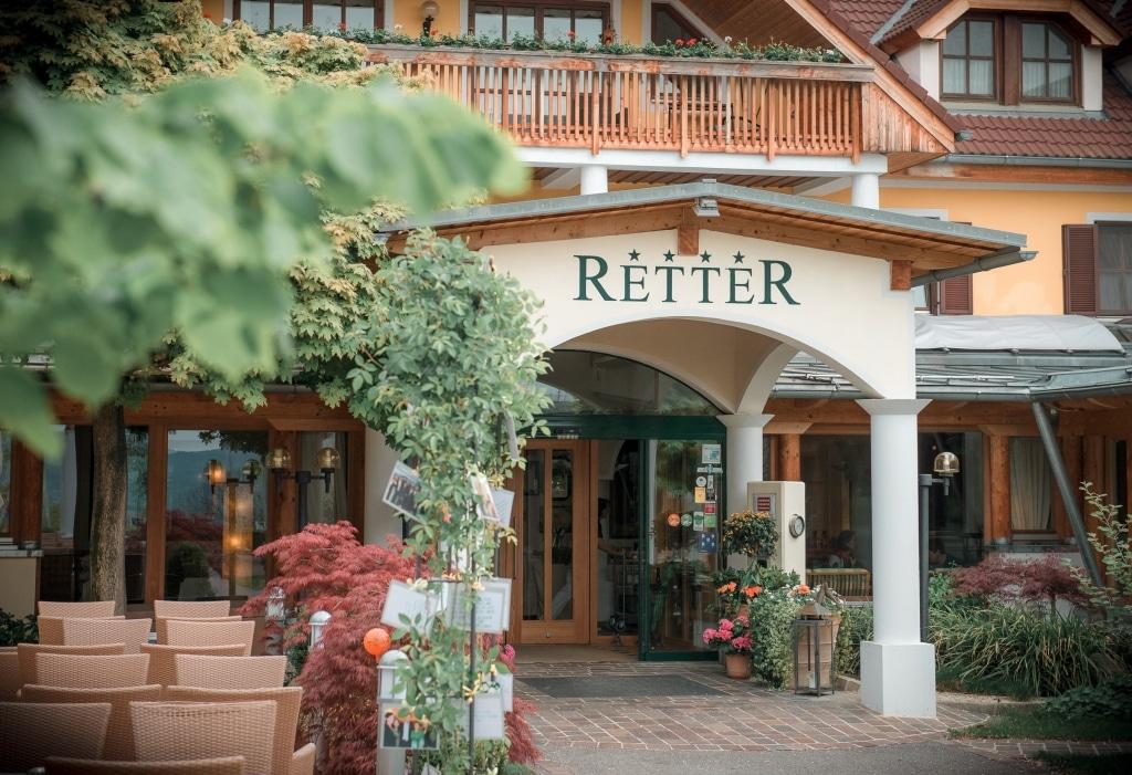 Eingang des Biorestaurants Retter