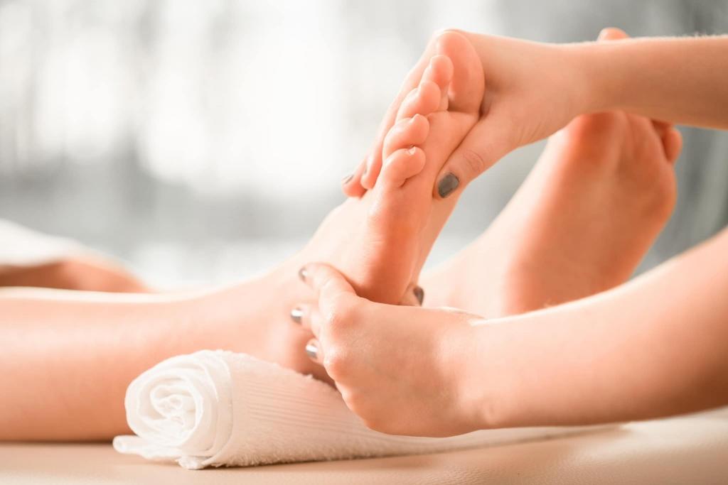 Fußmassage im Wellnesshotel Retter