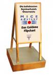 Goldenes Flipchart für das beste Seminarhotel Österreichs Retter