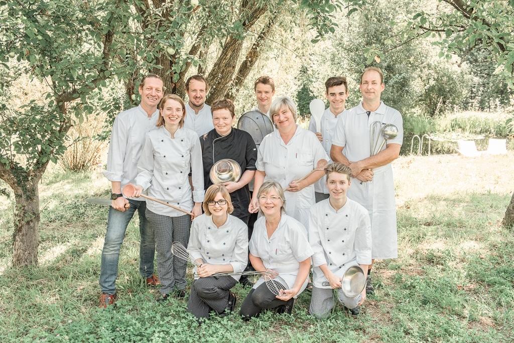 Küchenteam Biorestaurant Retter Gruppenfoto