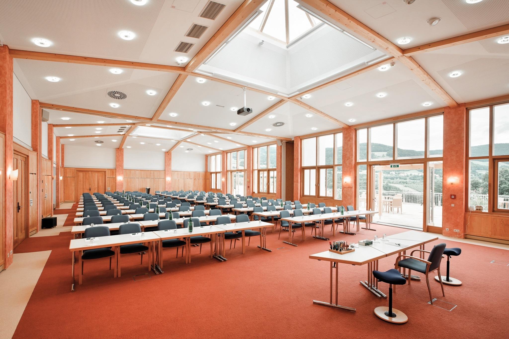 Kuppelraum Jelinek und Frischmuth im Seminarhotel Retter
