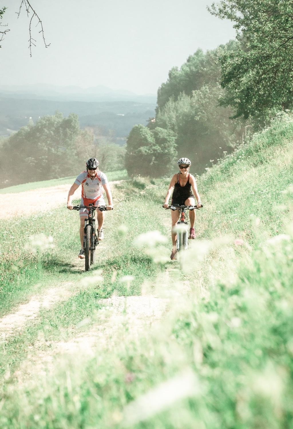 Radfahren in der Natur rund um den Pöllauberg