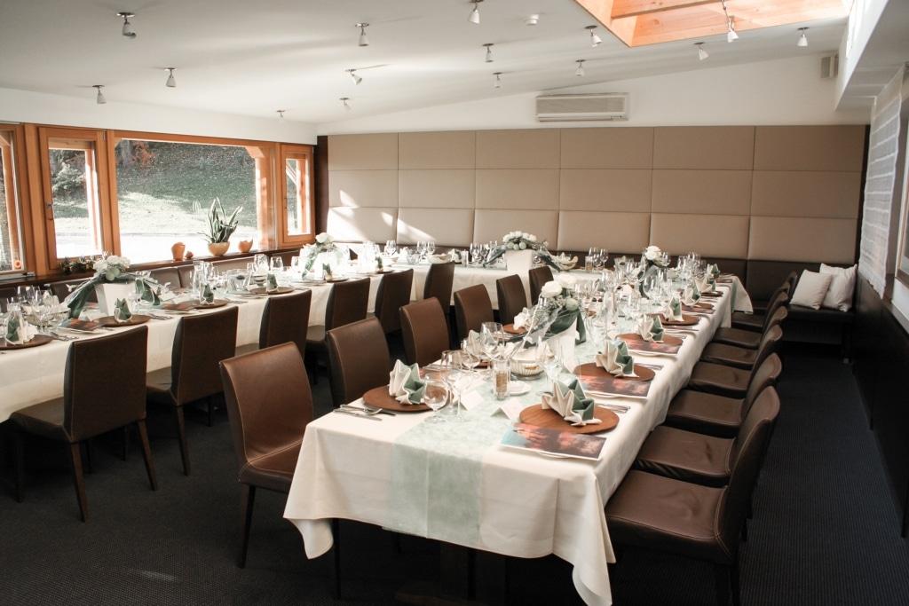 Hochzeitstafel im Biorestaurant Retter
