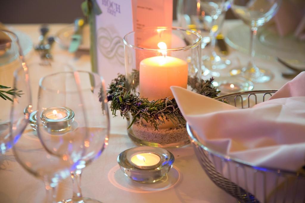 Schön gedeckter Tisch im Biorestaurant Retter