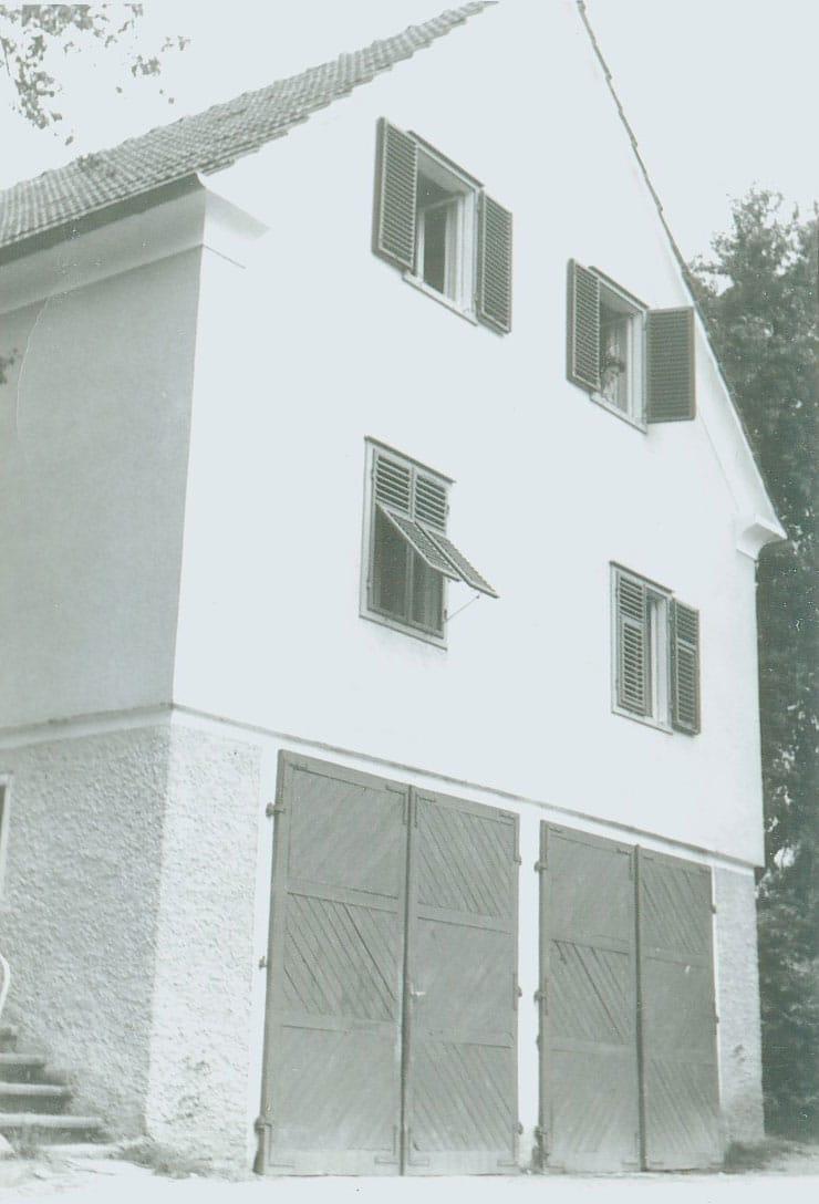 Zimmer von Gasthof Retter 1952