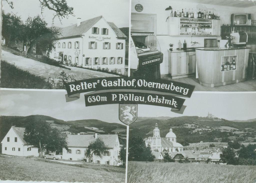 Postkarte vom Gasthof Retter 1963