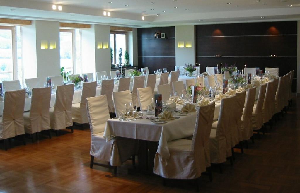 2002 Hochzeitstafel im Biohotel Retter