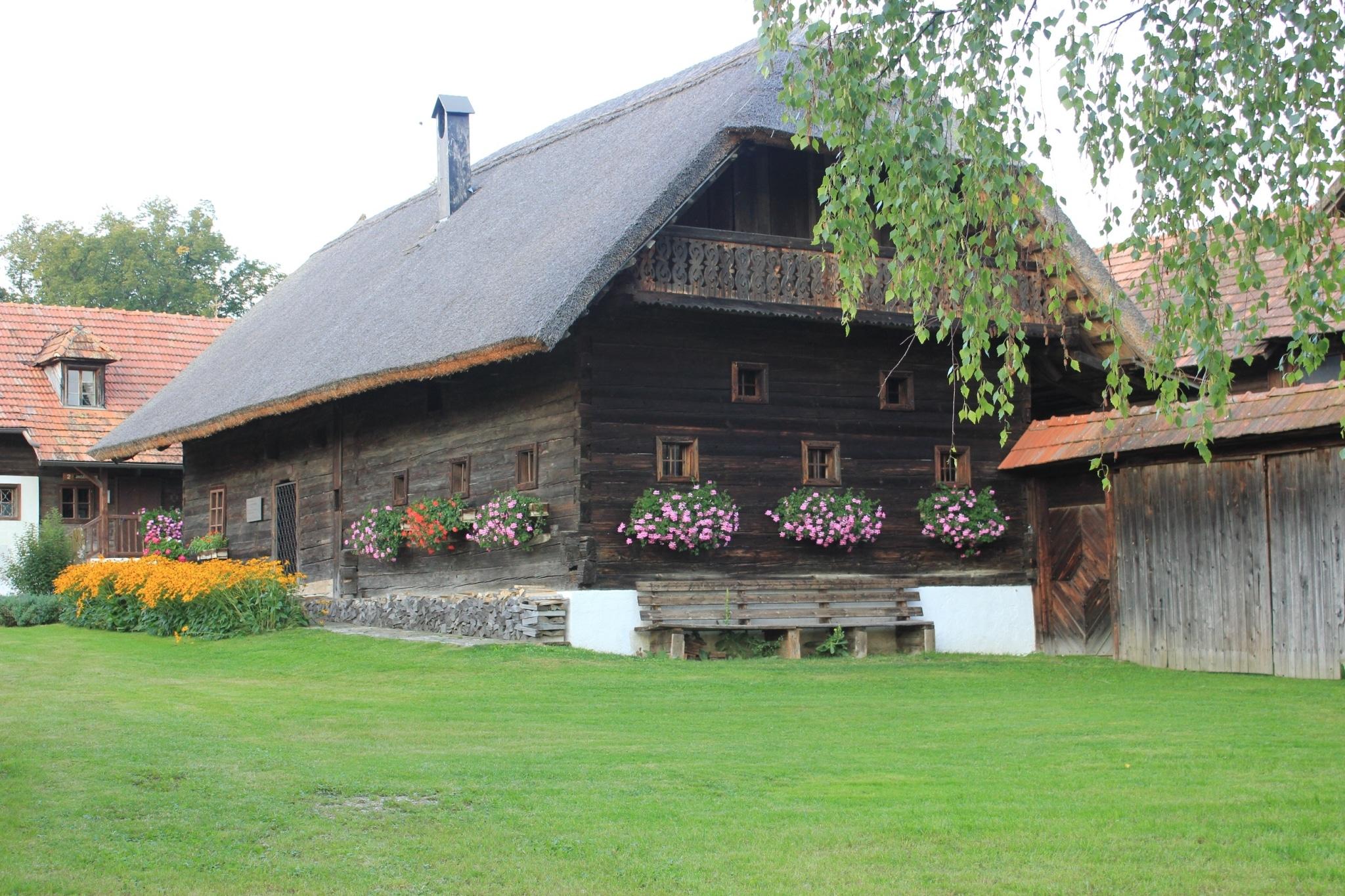 Holzhaus vom Freilichtmuseum Vorau Ausflugsziel vom Biohotel Retter