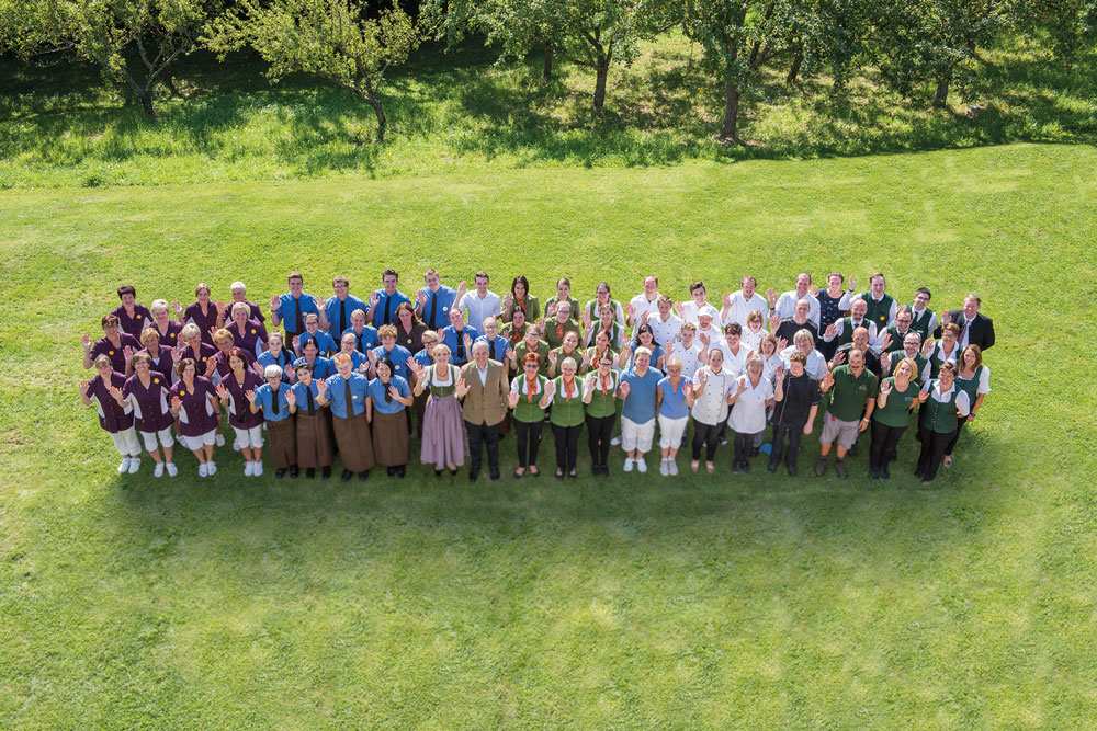 Gruppenfoto von Team Biohotel Retter