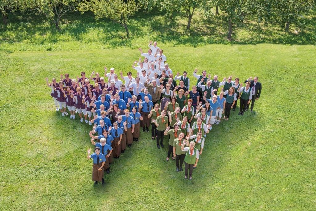 Gruppenfoto Team Stern Biohotel Retter