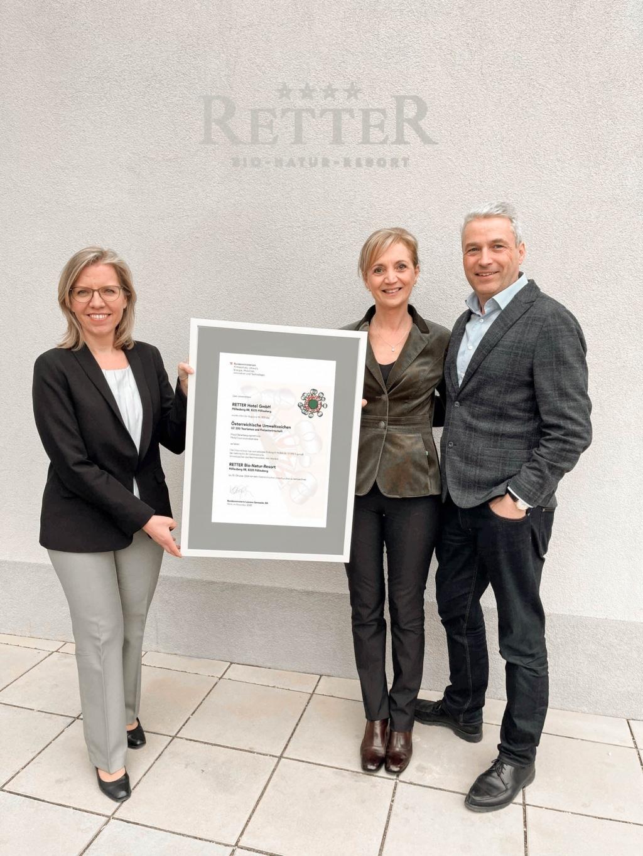 Auszeichnung Umweltzeichen mit Klimaschhutzministerin Leonore Gewessler