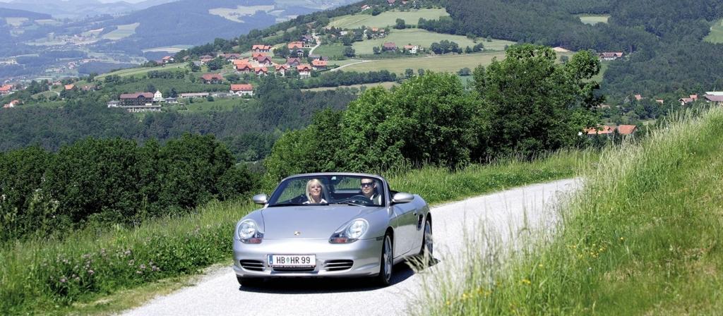 Mit dem Oldtimer oder Cabrio die schönsten Touren der Steiermark erkunden